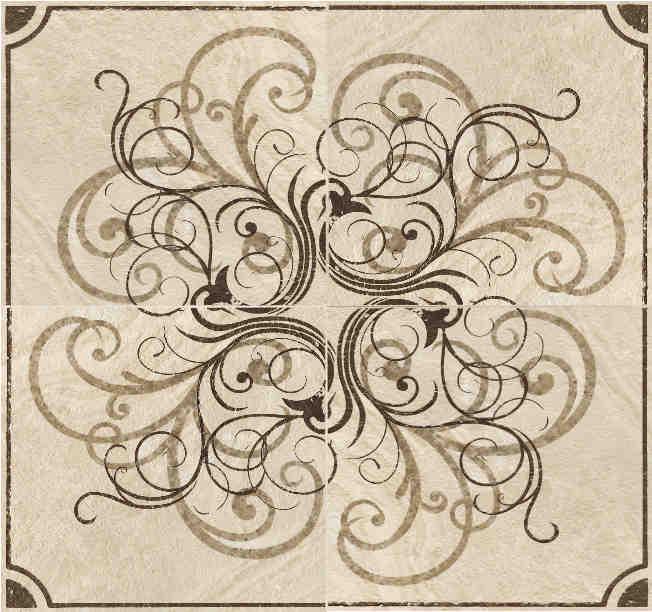 Рисунки из напольной плитки на картинках