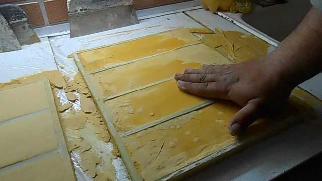 Изготовление кожаной плитки своими руками