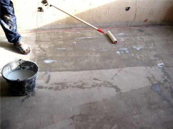 грунтовка пола перед укладкой плитки