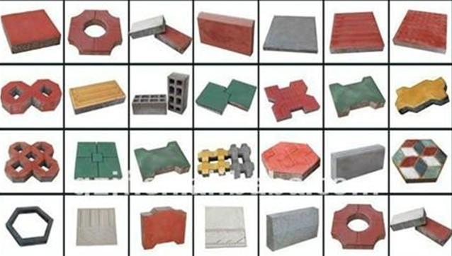 различные виды тротуарной плитки