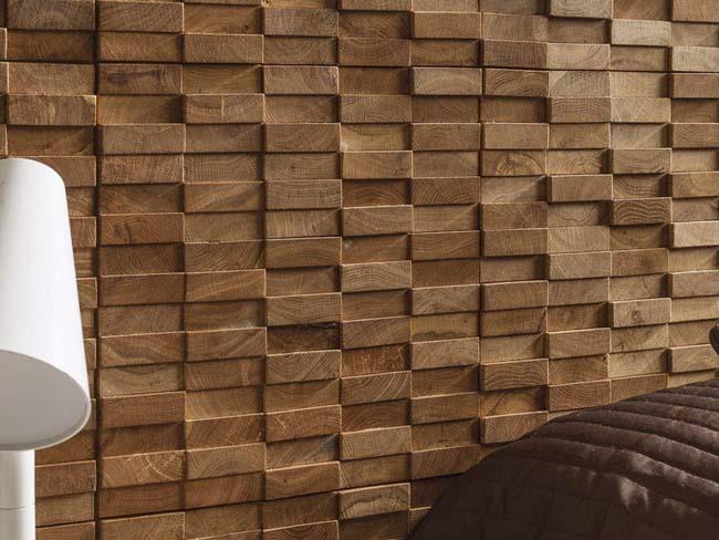 плитка из дерева придает шарм помещению