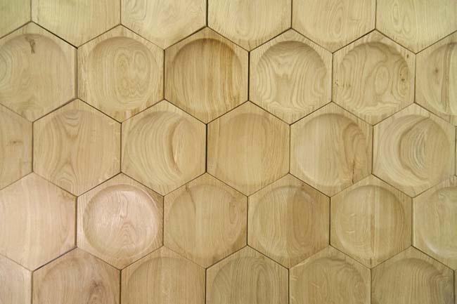 деревянные соты особый вид плитки
