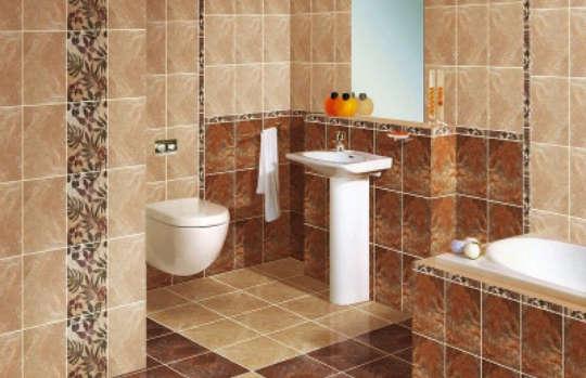 керамический пол в ванной