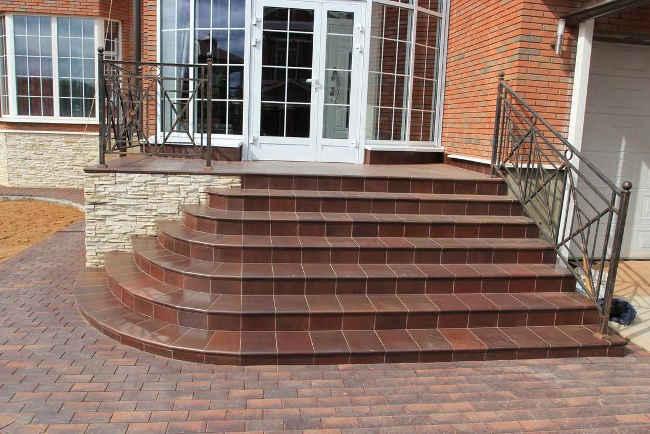 Клинкерная плитка для ступеней лестница с закруглением