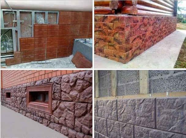 примеры облицовки фасада полимерпесчаной плиткой