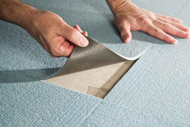 ПВХ плитка в виде коврового покрытия