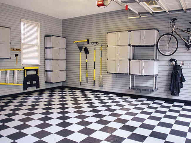 красивый пол в гараже