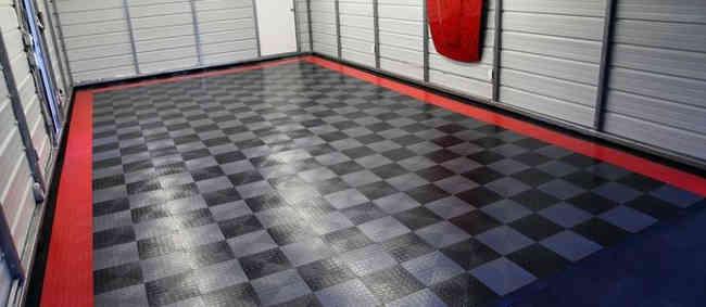 керамический пол в гараже