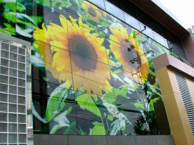 Фасад с рисунком нанесенный на клинкерную панель