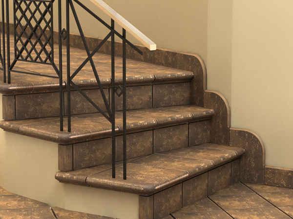 Лестница из клинкерной плитки