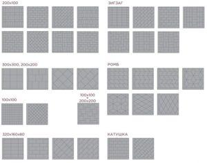 схемы укладки плитки под разный рисунок
