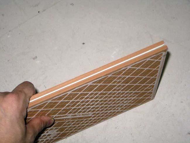 Керамическая плитка - вид с боку