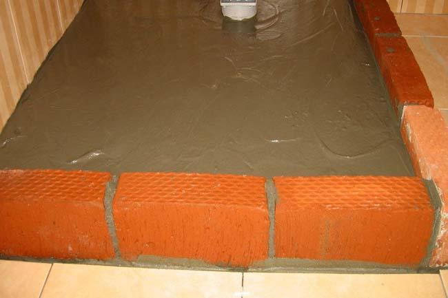 делаем стяжку из цементно-песчаного раствора