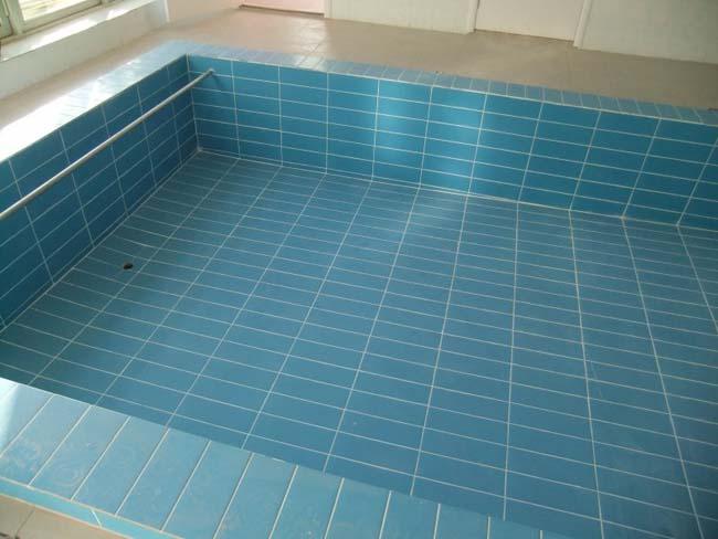 чаша бассейна выложена влагостойкой плиткой