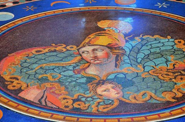древняя мозаика из стекла