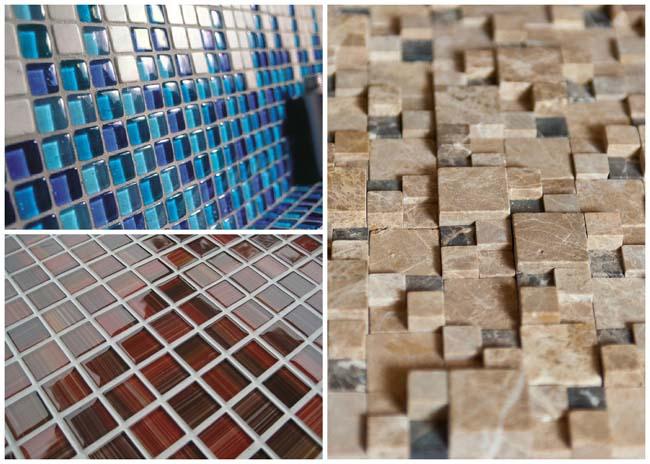 пример различных типов мозаики