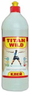 Прозрачный универсальный клей Титан в пластиковой бутылке для ручных работ