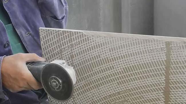 обработка плитки болгаркой