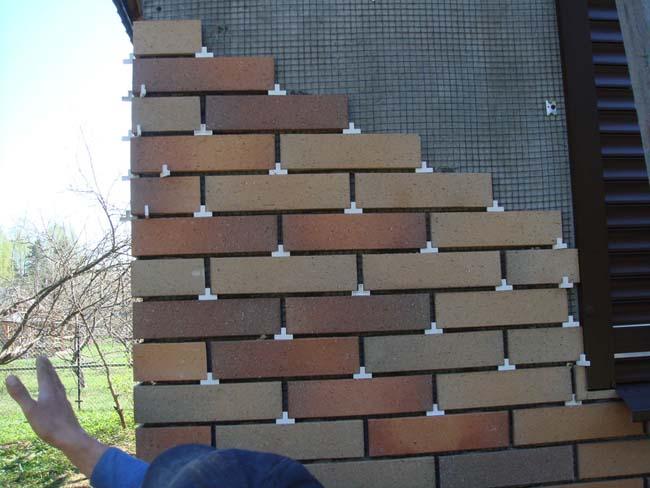 монтаж клинкерной плитки на стену