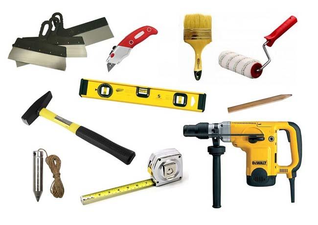 инструменты используемые при укладке плитки ПВХ