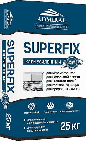 Superfix, клей специально разработан для работы с керамогранитной плиткой