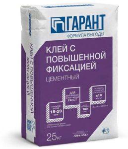 мешок цементного клея с повышенной фиксацией
