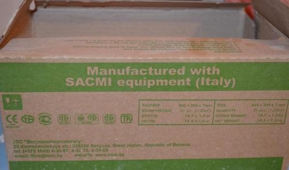 вес плитки указан на упаковке
