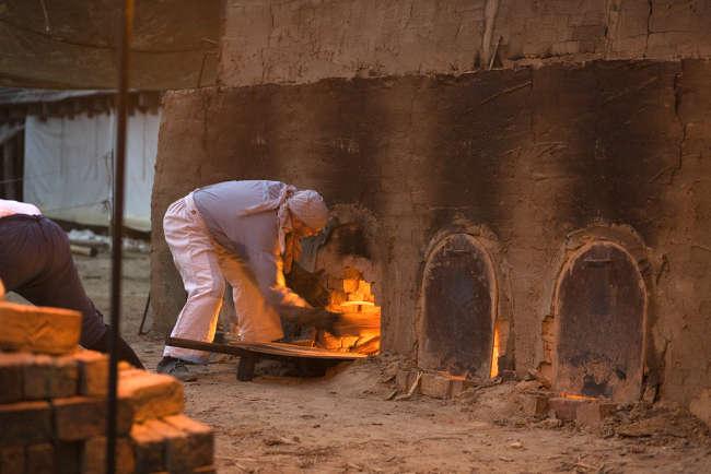 высокотемпературный обжиг глины в печах