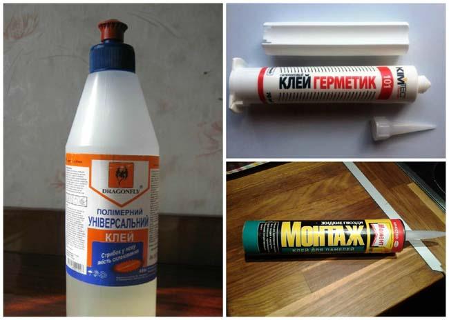 разнообразные клеящие составы специально для потолочной плитки