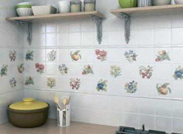 малоформатная плитка для фартука на кухне