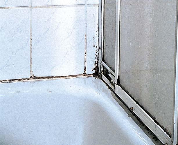 Душевую кабинку можно почистить убрав старый герметик из швов
