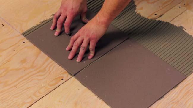 укладка плитки на фанерное основание