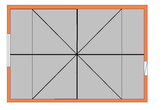 схема диагональной разметки