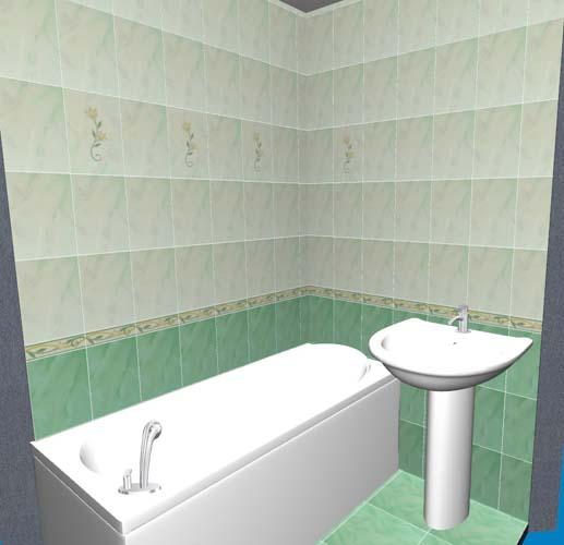 Ванна в 3D отображении