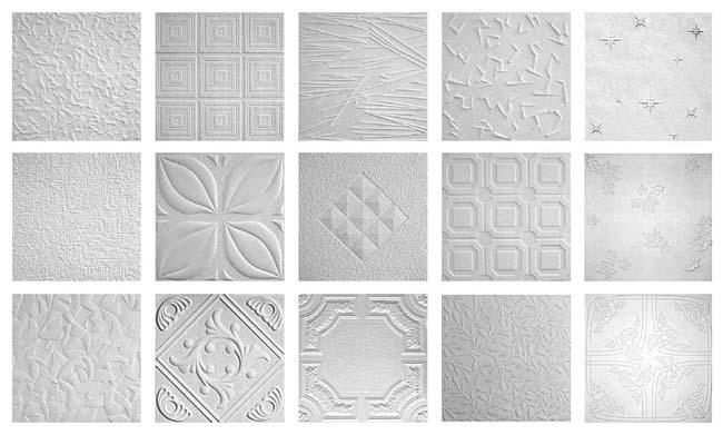 существующие варианты потолочных плиток