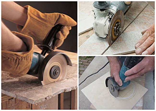 При обрезке плитки будьте внимательны и осторожны