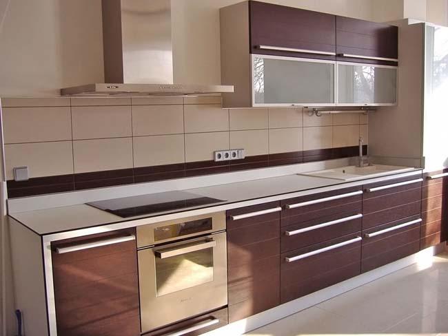 классический дизайн фартука для кухни