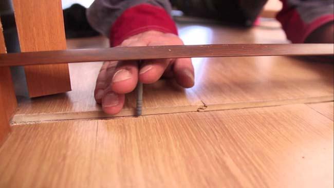 установка металлического полрожка