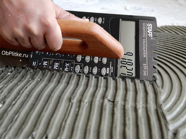 расчет клея с помощью калькулятора