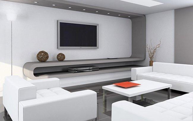лаконичная мебель без узоров в стиле хай-тек