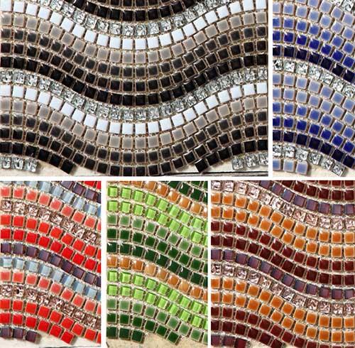 разнообразие расцветки мозаики поражает воображение