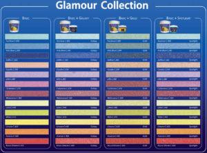 таблица цветовой гаммы существующих затирок