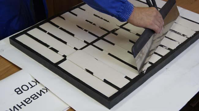 производство домашней плитки из гипса