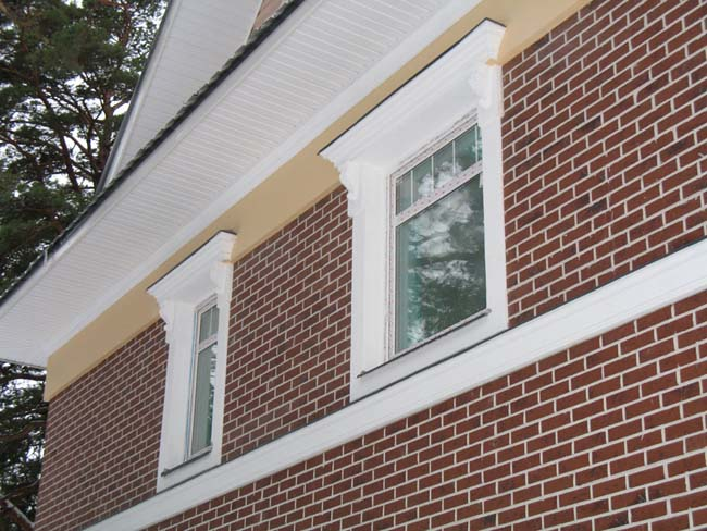 клинкер на фасаде здания