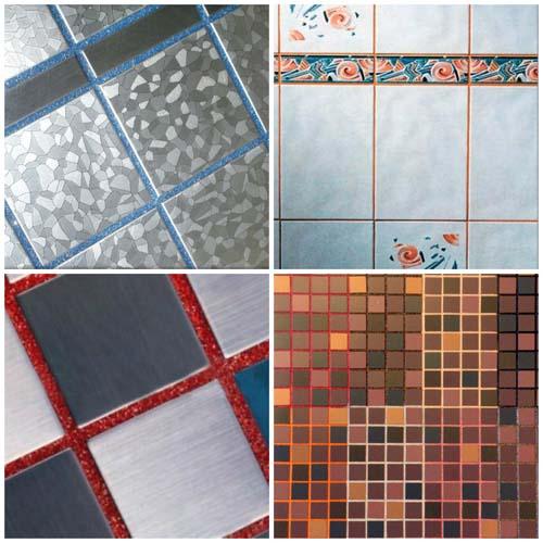 различные варианты швов между плитками