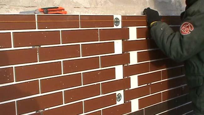 облицовка стены клинкерной термопанелью