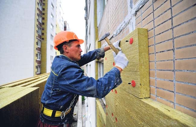 вентилируемый фасад начинается с утепления стены