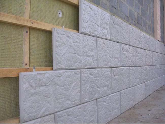 облицовка фасада бетонной плиткой