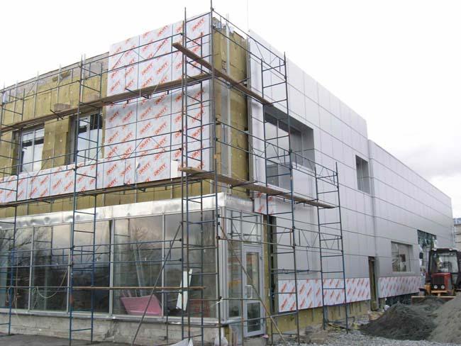установка вентилируемого фасада на здание