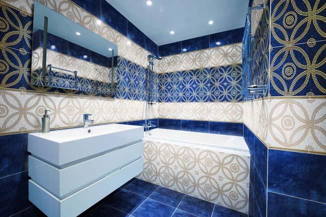 дизайнерское решение в оформлении ванной комнаты